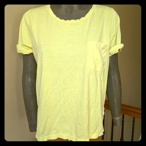 J.Crew rolled sleeve pocket t-shirt yellow size M